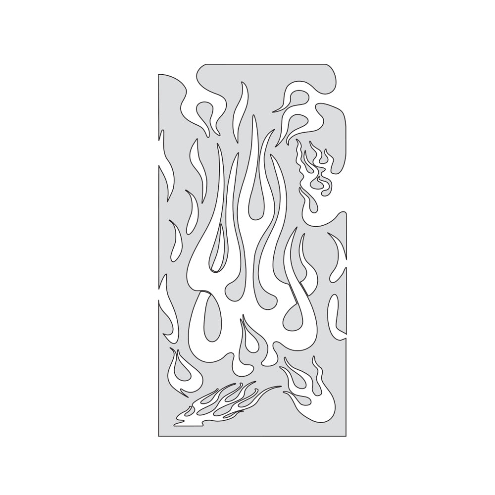 "Artool Flame Master The Medium Freehand Airbrush Template by ""Mr. J"" Julian Braet"