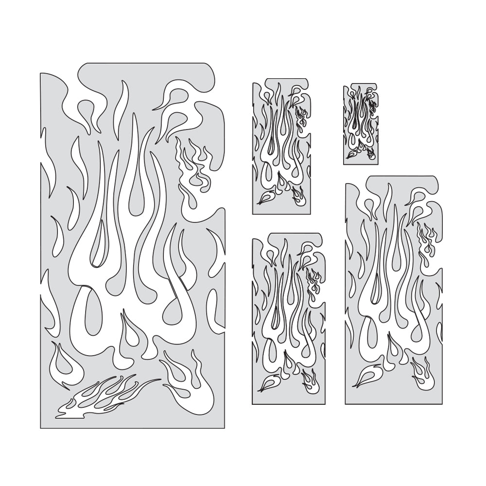 "Artool Flame Master Set Freehand Airbrush Template by ""Mr. J"" Julian Braet"