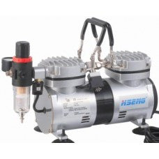 Airbrush compressor with regulator and filter - airbrushwarehouse
