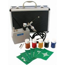 Airbrush Kit - Battery - Airbrush - Colours - Stencils