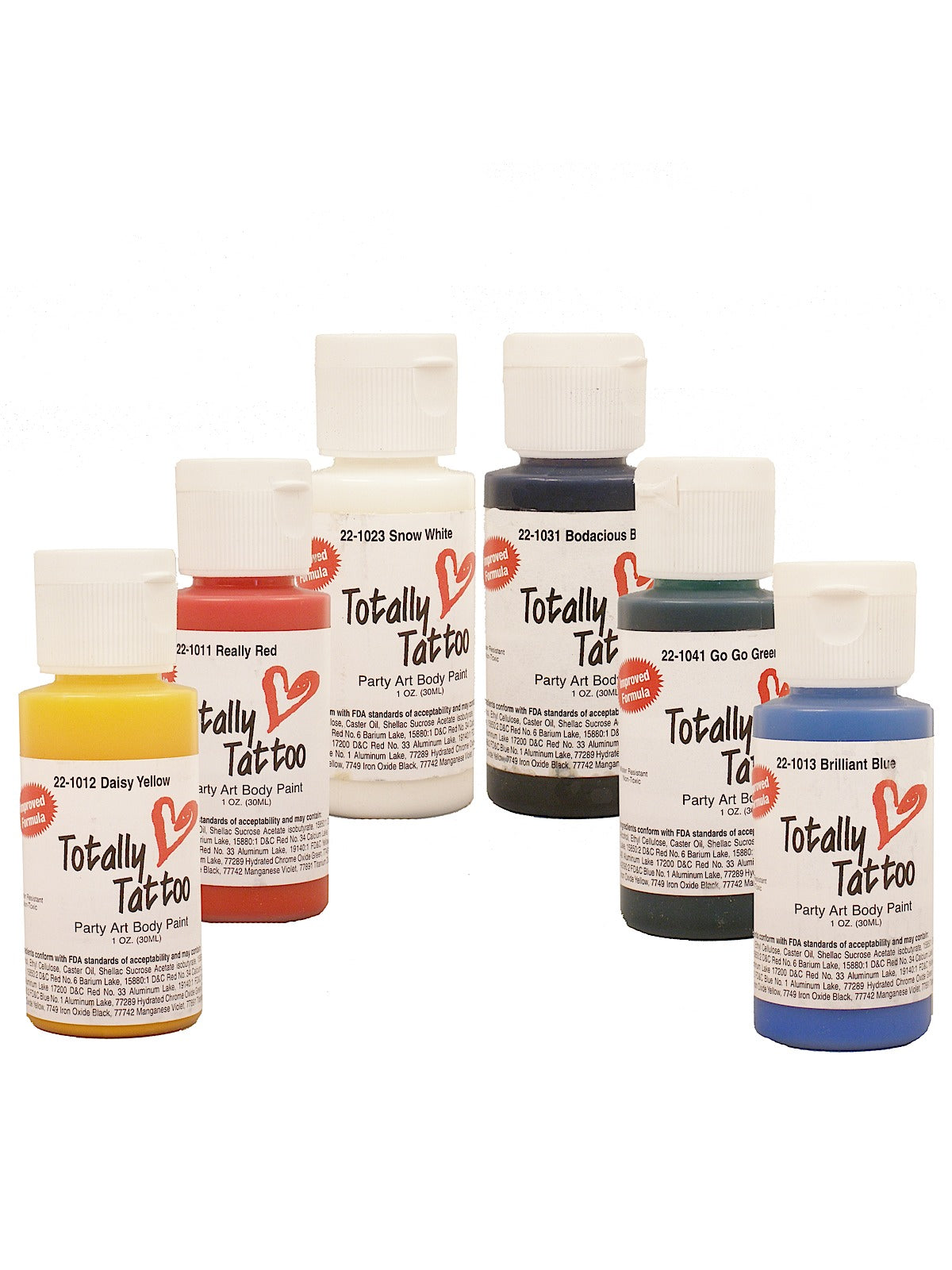 Totally Tattoo: Volume Primary Set (120ml each)