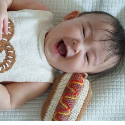 Pretzel Romper & Hot Dog Rattle