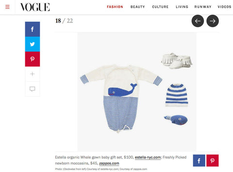 Estella Organic Whale Gown Baby Gift Set in Vogue