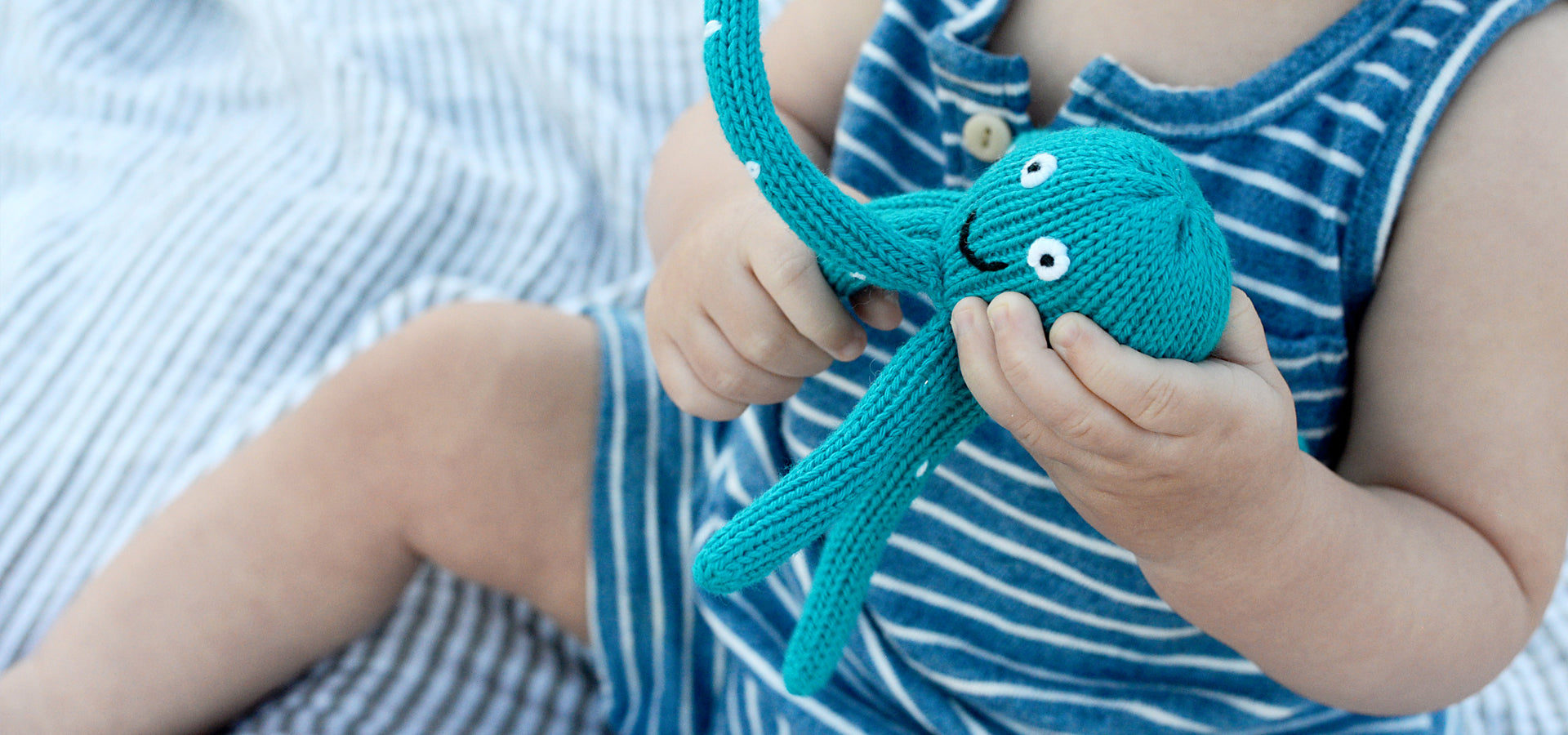 Organic Baby Toys, Octopus Rattle