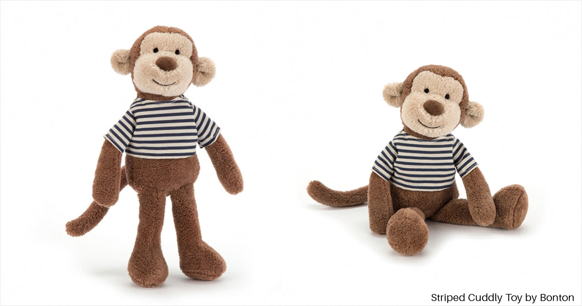 Striped Cuddly Toy by Bonton