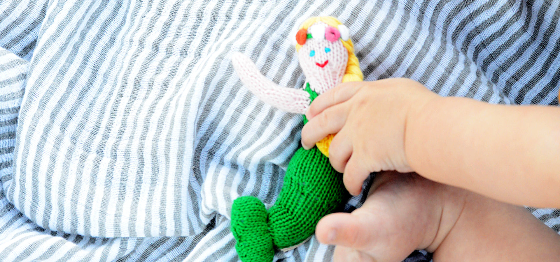 Organic Baby Toys, Mermaid Rattle