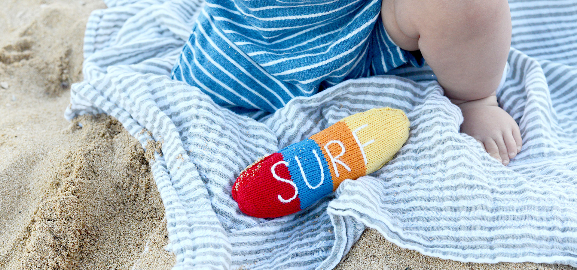 Organic Baby Toys, Surf Rattle