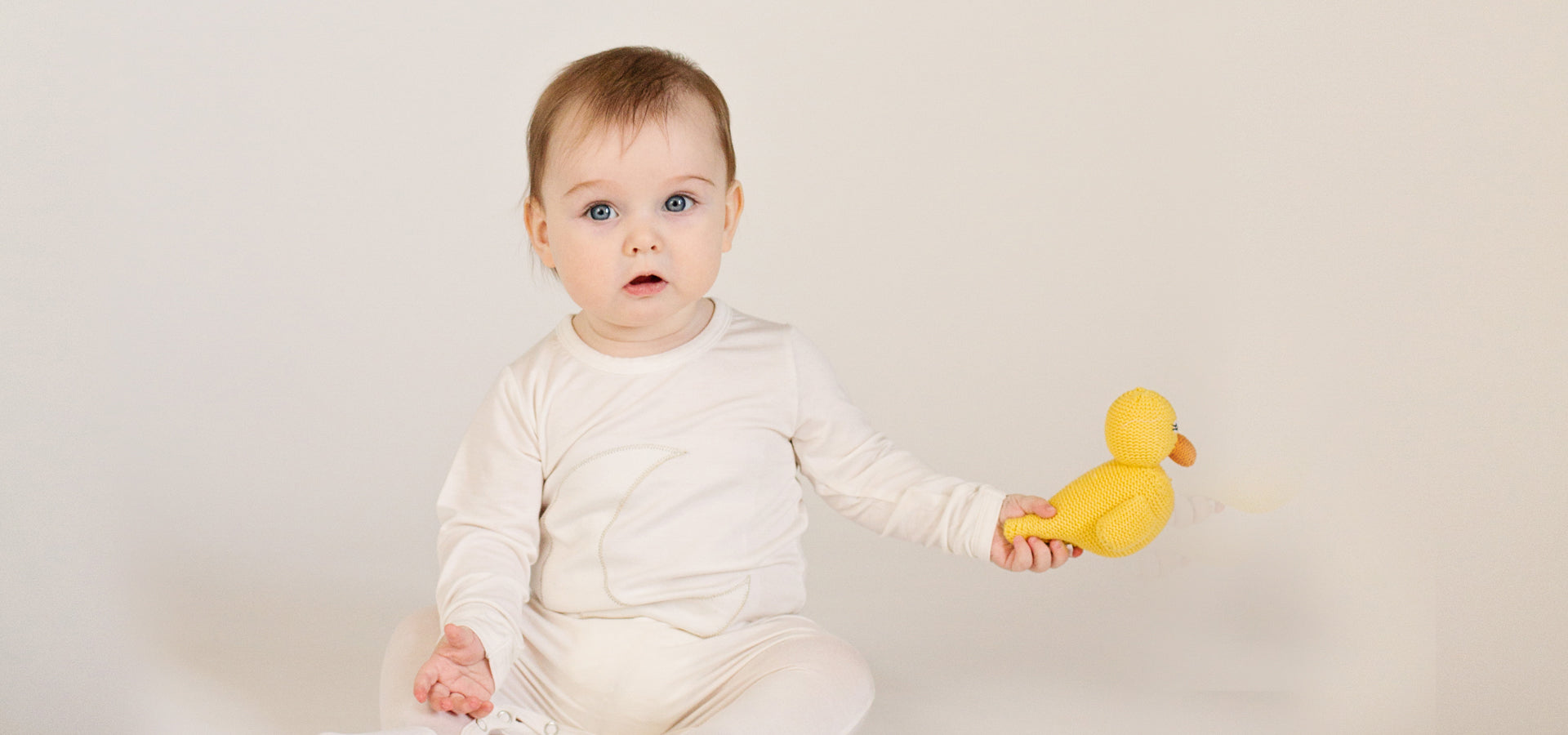 Organic Rubber Ducky Rattle Baby Toy