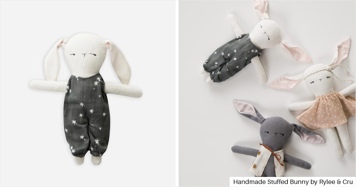 Handmade Stuffed Bunny by Rylee & Cru