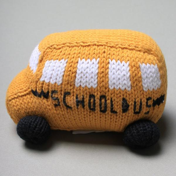 Organic Cotton Baby Toys - School Bus