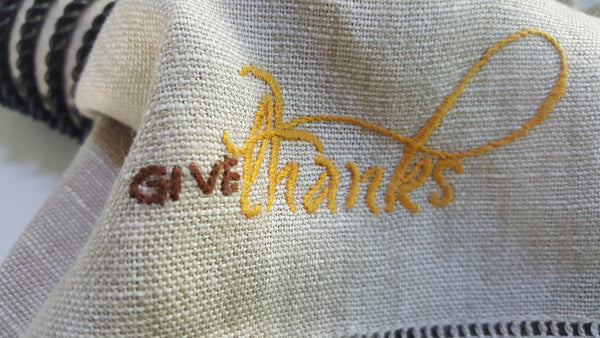 Dinner Napkins - Give Thanks