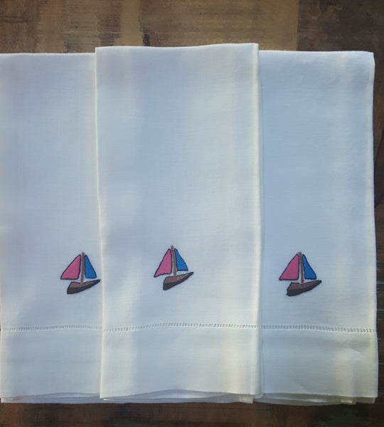 Guest Towels - Sailboat