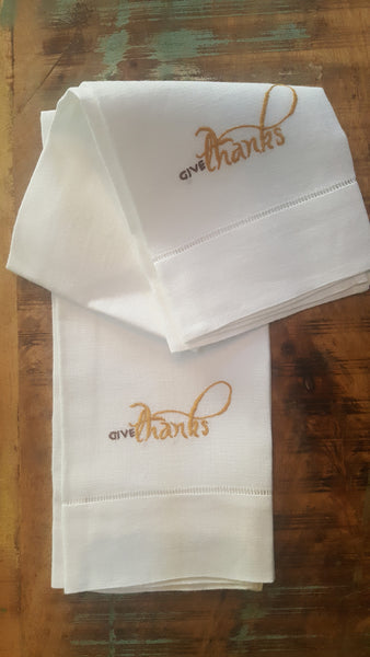 Guest Towels - Give Thanks