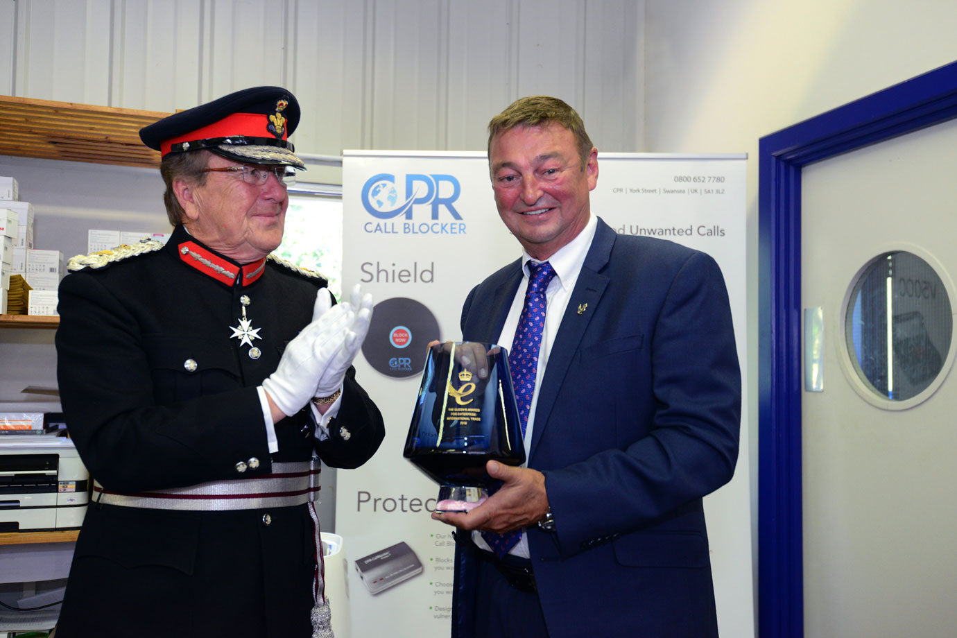 Queen's Award Presentation from HM Lord Lieutenant