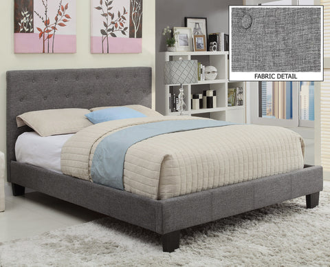 Grey Linen Summit Platform Bed - Mike the Mattress Guy