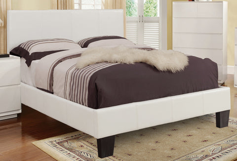 White Faux Leather Platform Bed (Volt) - Mike the Mattress Guy
