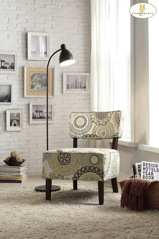 Orson Collection Patterned Accent Chair - Mike the Mattress Guy