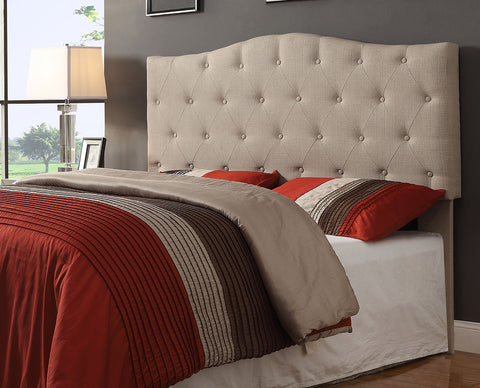 Grace Grey or Natural Linen Upholstered Headboard - Mike the Mattress Guy