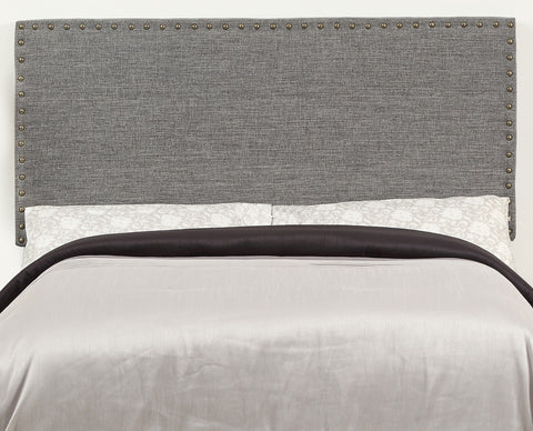 Leon Grey or Natural Linen Upholstered Headboard - Mike the Mattress Guy
