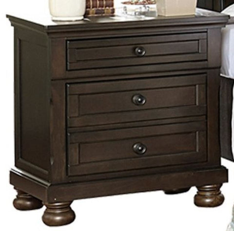 1718GY-4 Night Stand with Hidden Drawer - Mike the Mattress Guy