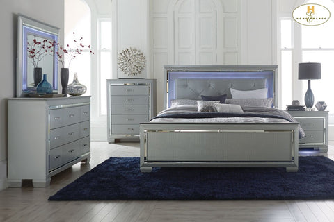 1916 Black or Silver Allura Collection Bed - Mike the Mattress Guy