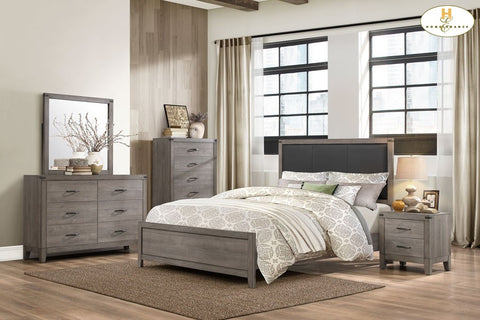 2042 Woodrow Collection Dresser & Mirror - Mike the Mattress Guy