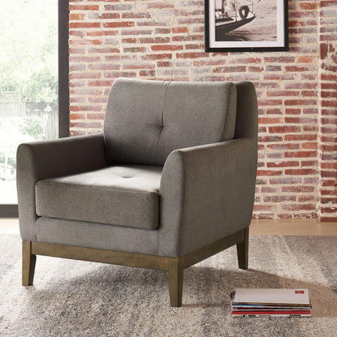 Colton Grey Accent Chair - Mike the Mattress Guy