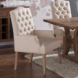 Lucian Grey or Beige Tufted Accent Chair - Mike the Mattress Guy