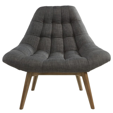 Oasis Grey or Beige Waffle Tufted Accent Chair - Mike the Mattress Guy