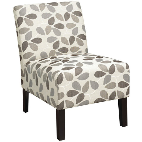 Flora Beige Patterned Accent Chair - Mike the Mattress Guy