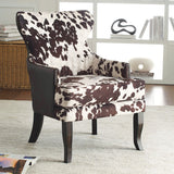 Angus II Spotted Cow Print Accent Chair - Mike the Mattress Guy