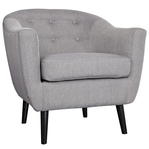 Nora Grey Tufted Accent Chair - Mike the Mattress Guy