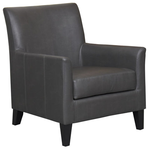 Era Grey Faux Leather Accent Chair - Mike the Mattress Guy