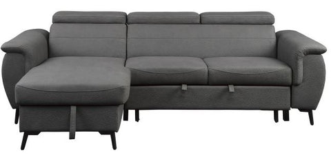 9403GY SC 2-Piece Reversible Sectional - Mike the Mattress Guy