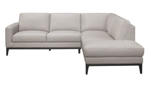9557GY SC 2-Piece Sectional with Right Chaise - Mike the Mattress Guy