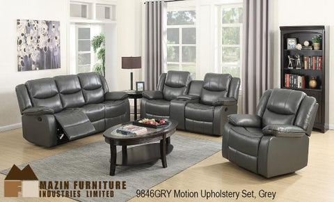 9846GRY Rocker Recliner, Reclining Loveseat & Sofa - Mike the Mattress Guy