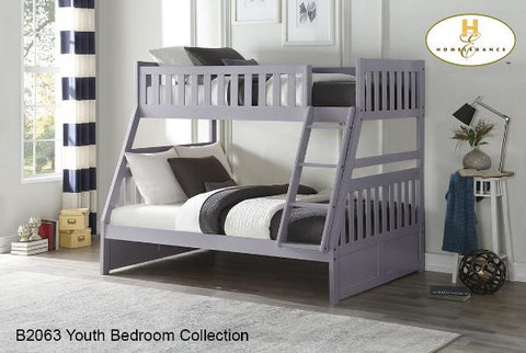 B2063TF Single Over Double Bunk Bed - Mike the Mattress Guy