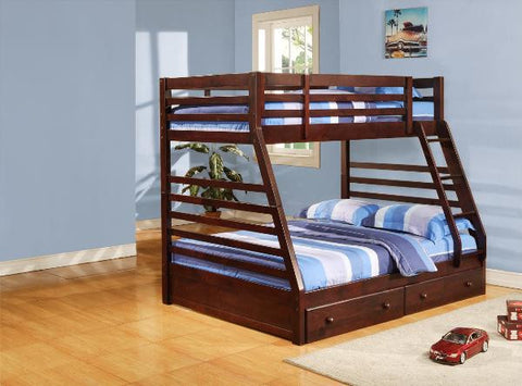 B-485 Single over Double Bunk Bed with Drawers - Mike the Mattress Guy