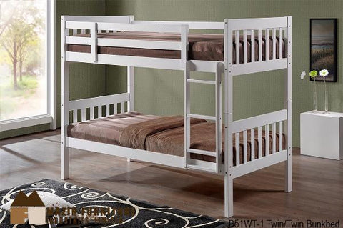 B51WT Single Over Single Bunk Bed - Mike the Mattress Guy