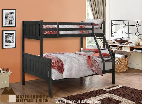 B-67F Single Over Double Bunk Bed - Mike the Mattress Guy