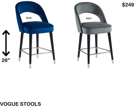 Vogue 26'' Counter Stool Available In Two Colours! - Mike the Mattress Guy