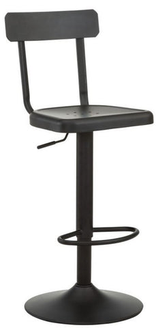 Haines Adjustable Stool in Black - Mike the Mattress Guy