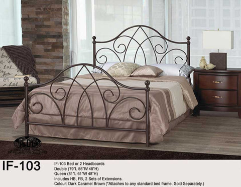 IF-103 Dark Caramel Brown Headboard only