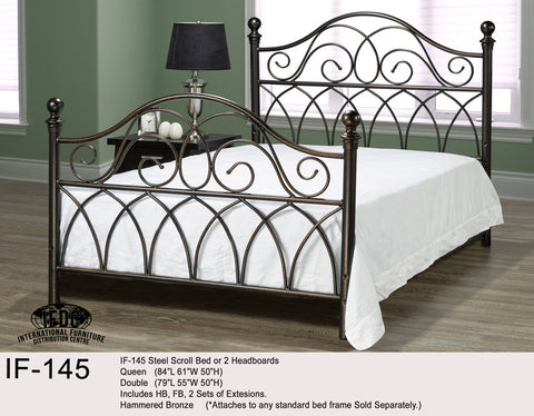 IF-145 Hammered Bronze Headboard