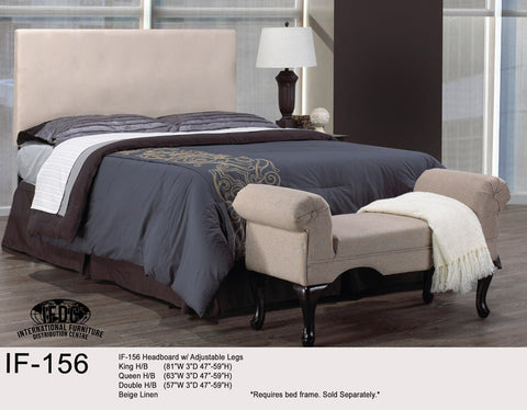 IF-156 Beige Adjustable Height Headboard - Mike the Mattress Guy