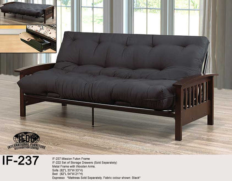 IF-237 Wooden Futon Frame - Mike the Mattress Guy