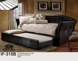 IF-315 Black or White Faux Leather Day Bed - Mike the Mattress Guy