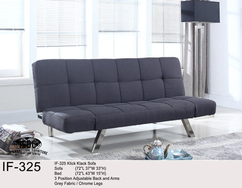 IF-325 Grey Klick Klack Sofa Bed - Mike the Mattress Guy