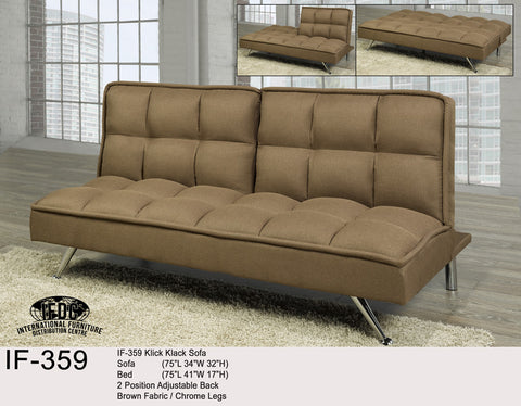 IF-359 Brown Klick Klack Sofa Bed - Mike the Mattress Guy
