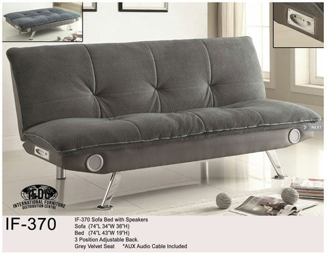IF-370 Klick Klack Sofa Bed with Built in Stereo Capability - Mike the Mattress Guy
